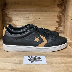 Converse Pro Leather 76 Low Black Gold Size 13 sneakers shoes